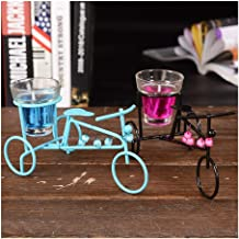 SSBHJXB Bicycle Metal Glass Jelly Candles Sconce Candles Romantic Candlelight Dinner Cup-Shaped Candle Candlestick Lantern...