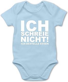 Shirtracer Sprüche Baby - Ich Schreie Nicht, ich bestelle Essen! - Baby Body Kurzarm für Jungen und Mädchen