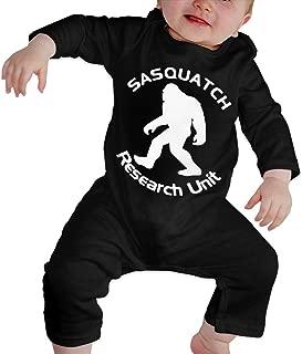 Hhaazsher Kids Baby Crawler Sasquatch Research Unit Baby Cotton Bodysuit Toddler Babies Long Sleeves