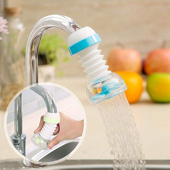 Blue LtrottedJ Kitchen Faucet Bath Shower Anti Splash Filter Tap Water-saving Device ,Head