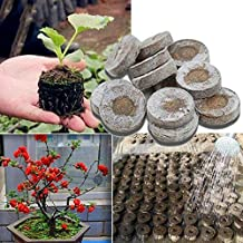 BAKER Store 10 Pcs 30mm Jiffy Peat Pellets Seed Starting Plugs Seeds Starter Pallet Seedling Soil Block Professional Easy to Use
