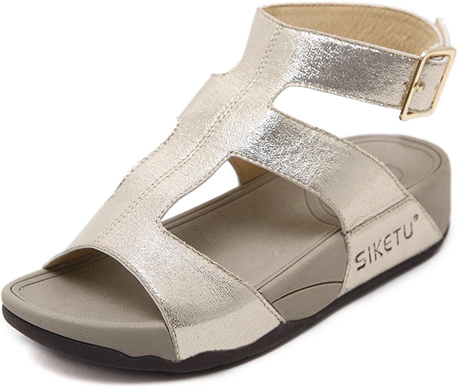 Tuoup Womens Ankle Strap Fashion Leather Sandals Sandles