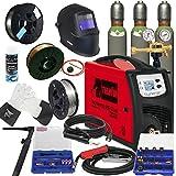 TELWIN MIG/MAG Schweißgerät TECHNOMIG 215 DUAL Synergic im SET 3 mit SCAPP Schweißdrähten, SCAPP Schweißerhandschuhen, SCAPP Trennspray, WIG Schweißbrenner, Schweißhelm, Gasflaschen, usw. (816053)