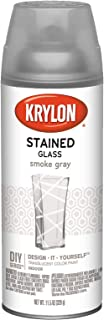 Krylon K09037007 Stained Glass Aerosol Paint, 11.5 oz, Smoke Gray, 6 1