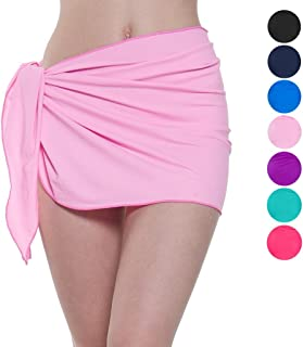 0605c7e163 ChinFun Women's Soft Wrap Beach Swimwear Short/Knee Length/Long Cover up  Pareo Swimsuit