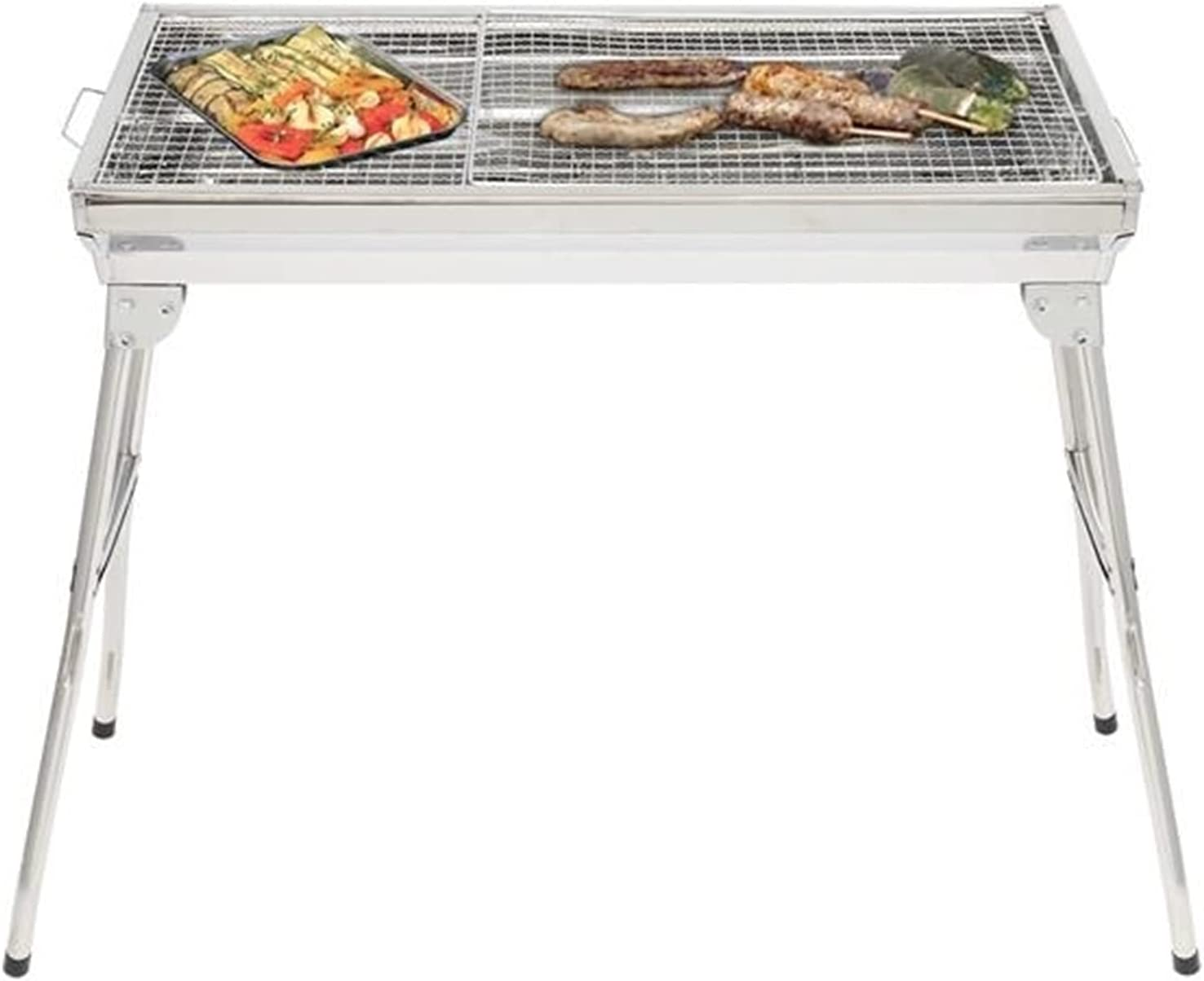 ZSY Camping Grills Portable Stainless Steel 5 ☆ very popular 27.95 x 12.99 Max 71% OFF Grill