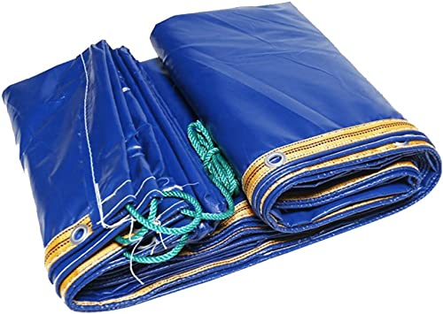 Tarpaulin HUO Bache Imperméable, Feuille Durable De Toile D'auvent De Renfort, Anti-UV Larme-résistance Bleu (Couleur   Bleu, Taille   5  10m)