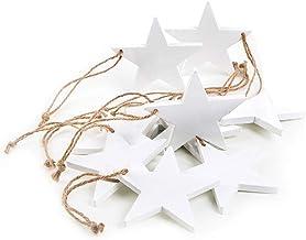 Weihnachtsdeko Weihnachtsstern Holz Stern XXL massiv natur antik weiß