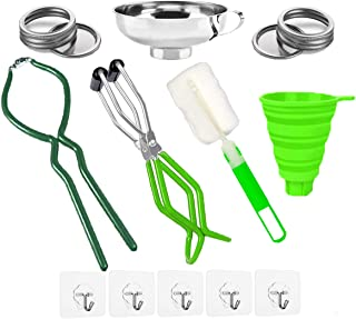 Canning Essentials Set, Canning Kit Tool, Include Canning Jar Lifter, Canning Funnel, Ball Canning Jars, Canning Tongs, Green