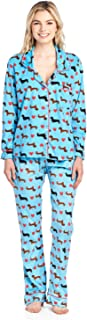 Women's Long Sleeve Minky Micro Fleece Pajama Set