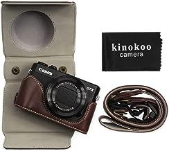 kinokoo Leather Case for Canon PowerShot Mark II G7X Mark III  Protective Bag Canon G7X III GX Camera Case  coffee7
