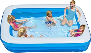 Piscinas hinchables Piscinas Hinchables Adultos Gran Piscina Exterior Azul Piscina Infantil Rectangular Para Niños Adultos Parque Acuático Ajustable Sin Instalación. ( Color : Blue , Size : 9.8ft )