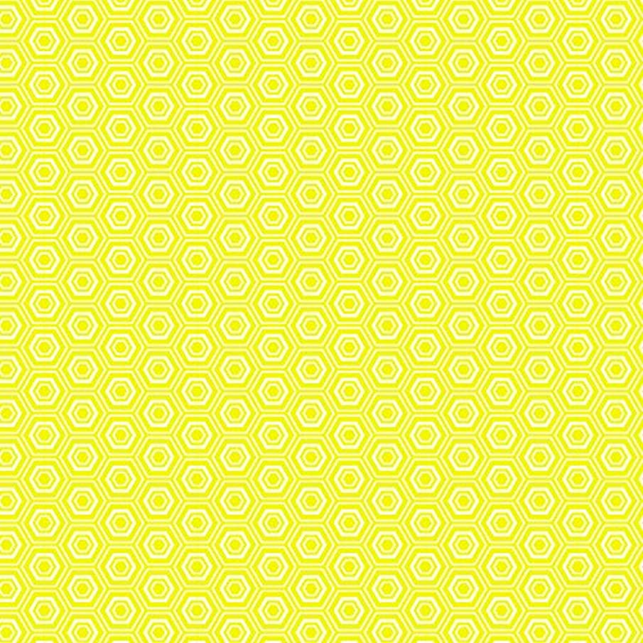 American Crafts Core'dinations 12 Pack of 12 x 12 Inch Patterned Paper Yellow Hexagon,