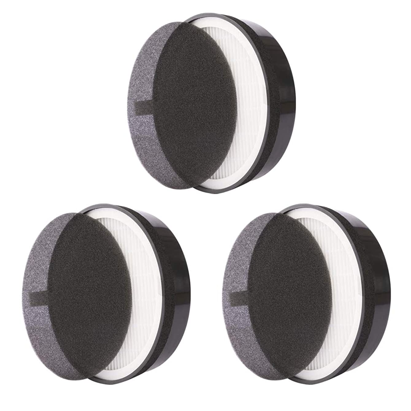 Replacement Filter, for Levoit LV-H132, Particle and Activated Carbon Filter for Dust and Odor, 3 Pack