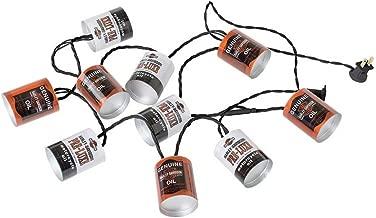 HARLEY-DAVIDSON Oil Can String Party Lights - 10 ft. Orange & White HDL-10018
