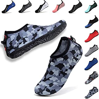 Womens Mens Water Shoes Adjustable Aqua Socks for Outdoor Swimming Beach Surfing Zipper