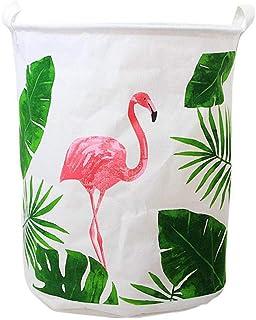 ZXXFR Panier À Linge Pliant,Flamingo Animal Seaux Organisateur Vêtements Chaussures Sac De Rangement Panier Organisateur O...