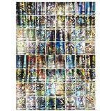 BSTQC - Set di 200 carte Pokemon, per bambini, con carte da gioco da 195 GX e 5 Mega Pokemon
