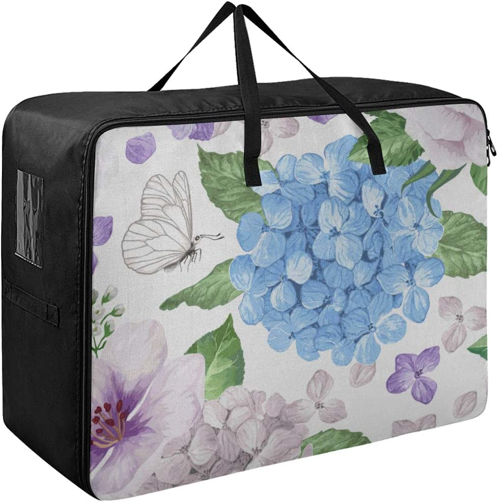 Liaosax Directly managed store Under-Bed Storage Safety and trust Blue Hydrangea Clothin Retro Beautiful