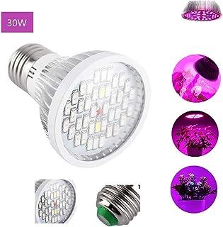 Foco LED de 30 W para cultivo de plantas, E27, acogedor de espectro completo 40 LED para plantas de interior, lámpara de luz para vegetales, invernadero e hidropónico, AC 85~265 V