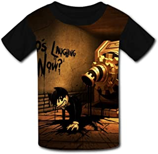 QIANBAIHUI Kids Youth Bendy and The Ink Machine 3D Printed O-Neck T-Shirt Tees