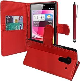 VCOMP Lot Pack skärmskydd för Acer Liquid Z5 Duos - röd + pekpenna