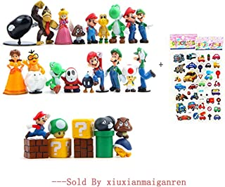 28 Piece Super Mario Bros Super Mary Princess, Turtle, Mushroom, Orangutan , Super Mario Action Figures, 2