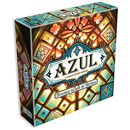 Azul Stained Glass of Sintra   Strategy Board Game   Family Board for Adults and Kids   Ages 8 and up   2 to 4 Players   Average Playtime 30-45 Minutes   Made by Next Move Games