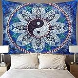 YYRAIN Tapiz Hippie Mandala Arte De La Pared Decoración Bohemia Colgante De Pared Estilo Art Deco 150x130cm E