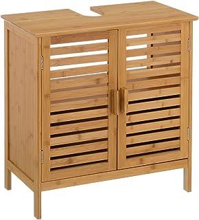 Mueble bajo Lavabo nórdico marrón de bambú para Cuarto de