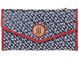 Tommy Hilfiger Large-Continental Envelope Wallet-Mini Geometric Jacquard Navy/White/Red One Size