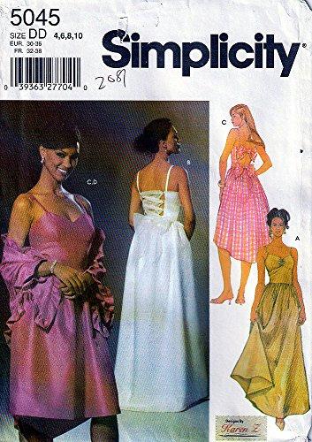 Simplicity Schnittmuster 5045 Abendkleid, formelle Kleider, Wickelschal