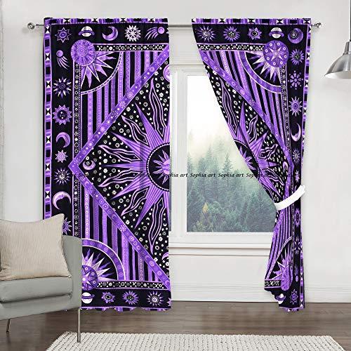 Sophia-Art - Cortinas para ventana, diseño de flores, color