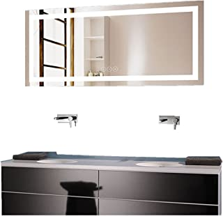 Decoraport 70 x 32 in Horizontal Dimmable LED Bathroom Mirror with Anti-Fog and Bluetooth Function (DK-A-CK010-T)