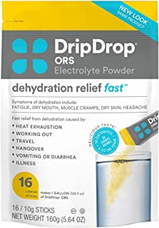 Sponsored Ad - DripDrop ORS - Patented Electrolyte Powder For Dehydration Relief Fast - For Hangover, Heat Exhaustion, Ill...