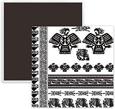 Egypt Pharaoh Pattern Art Silhouette Square Ceramics Fridge Magnet 2pcs
