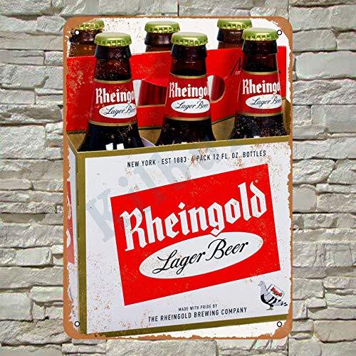 Kilburn Rheingold Bier Retro Kreative Wanddekoration Persönlichkeit Trend Hintergrund Einfacher Stil Eisen Gemälde