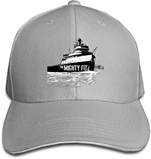 Adult Unisex Cool SS Edmund Fitzgerald ~ The Mighty Fitz Adjustable Sandwich Baseball Cap Hat for Men&Women