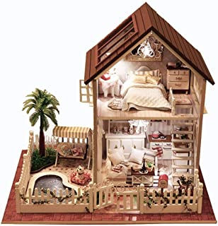 Rylai 3D Puzzles Wooden Handmade Miniature Dollhouse DIY Kit w  Light  -Paris Apartment Series 1f3b81ff04d3