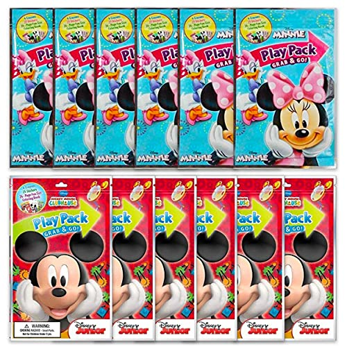 Value Pack - 12 Bendon Playback Grab and Go for Minnie and Mickey Mouse Fun Size Coloring Books Bulk Activity Books for Kids.