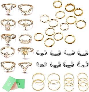 Gold Four Finger Ring