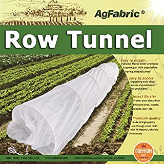 10FT Long Agfabric Grow Tunnel,Mini Greenhouse,Hoophouse ,Tunnel Kits, 0.9oz Row Cover and1/5
