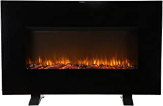 DOIT 38Inch Large Wall Mounted Flat Panel Electric Fireplace Freestanding,Insert/Corner 3D Space Heater w/Remote Control