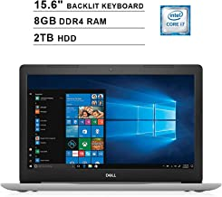 2019 Dell Inspiron 15 5570 15.6 Inch FHD Touchscreen Laptop (Intel Quad-Core i7-8550U?up to 4.0 GHz, 8GB RAM, 2TB HDD, Backlit KB, DVD, Bluetooth, WiFi, HDMI, Windows 10, Sliver) (Renewed)