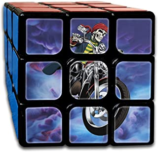 3x3 Rubik Cube Motorcycle Skull Helmet Smooth Magic Cube Sequential Puzzle