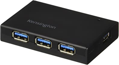Kensington UH4000C 4 Port Powered USB Hub 3.0 with 15W/3Amp Power Adapter (K33979AM)