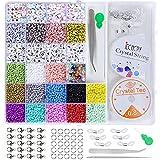 Cuentas de Colores 3mm Cuentas y Abalorios Cristal Kit para DIY Pulseras Collares Bisutería Regalo Cadena