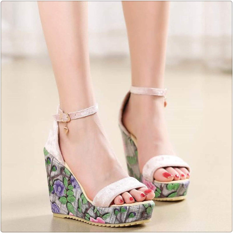 RBHSG Fashion Women Sandals Summer shoes Wedge Heels Gladiator Comfortable Platform