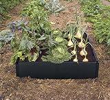 Garland Black Raised Vegetable Grow Bed 97.5 x 97.5 x 25 Centimetre