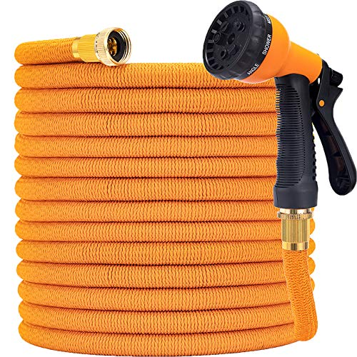 YOJULY Garden Hose Expandable -100ft Garden Hose, Leakproof Lightweight Expanding Garden Water Hose 3-Layers Latex,Best Choice for Watering and Washing (100ft)